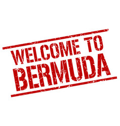 Welcome to bermuda stamp vector