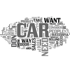 What your car says about your sales career text vector