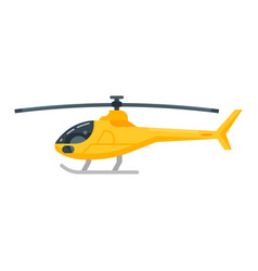 yellow helicopter vector image