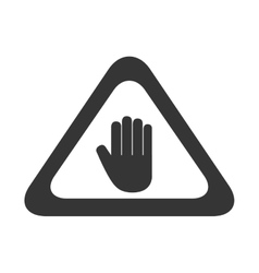Hand sign precaution icon graphic vector