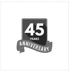 45 years anniversary party badge sign and emblem vector