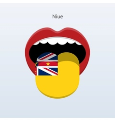 Niue language abstract human tongue vector