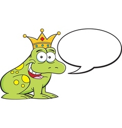Cartoon frog with caption balloon vector image