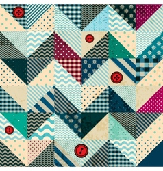 Chevron patchwork in nautical style with grunge vector