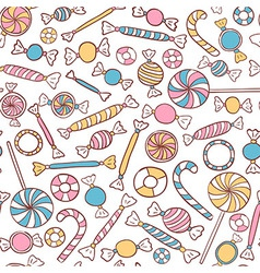 Candies seamless pattern hand drawn vector