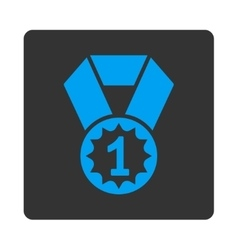 First place icon from award buttons overcolor set vector