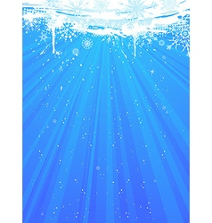 Blue Christmas card vector image