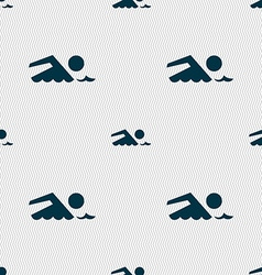 Swimming sign icon pool swim symbol sea wave vector