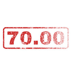 7000 rubber stamp vector image vector image