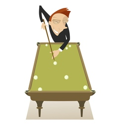 Pool player vector