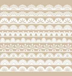 White lace border set vector