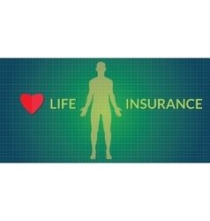 Life insurance human silhouette vector