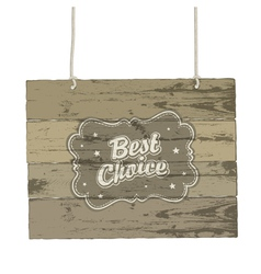Vintage wooden sign vector