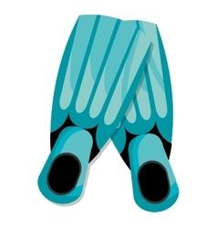 Colorful diving fins graphic vector