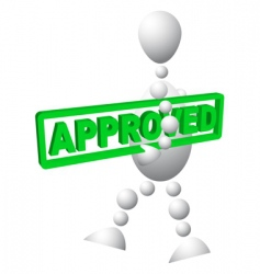 approved label vector image