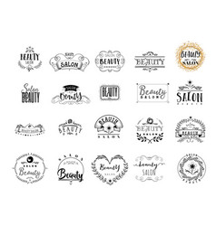 Badge for small businesses - beauty salon sticker vector