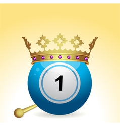 bingo ball with crown and sceptre vector image vector image