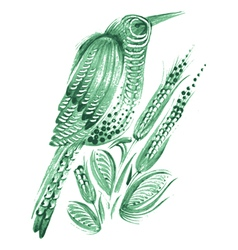 bird flower vector image