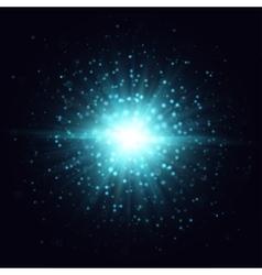 Blue light effect vector