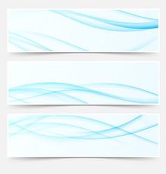 blue soft futuristic elegant swoosh wave line vector image vector image