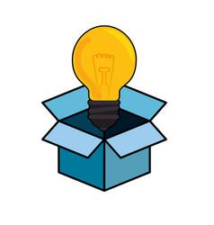 Bulb and big ideas vector