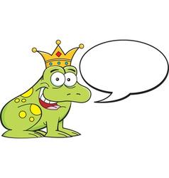 Cartoon frog with caption balloon vector