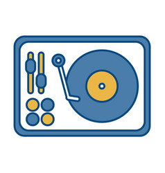 Dj turntable icon vector
