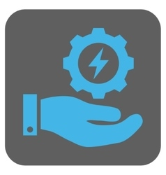 Electricity Gear Service Hand Rounded Square vector image