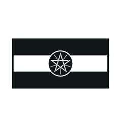 Ethiopia flag monochrome on white background vector