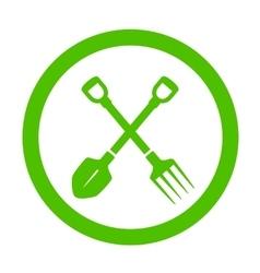 green round garden icon vector image vector image