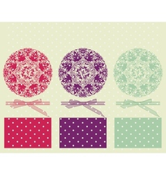 Grunge ornament merry Christmas card vector image vector image