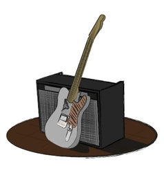 Guitar and amp vector