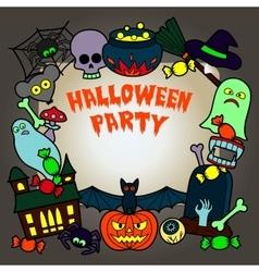 Halloween Party Mock up vector image vector image