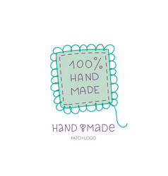 Hand made logo patch hobby icon vector