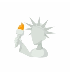 Head of Statue of Liberty icon in cartoon style vector image