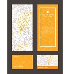 Magical floral vertical frame pattern vector