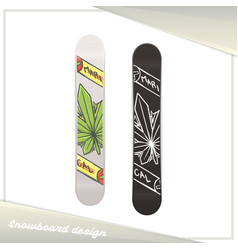 Medical marijuana snowboard one vector