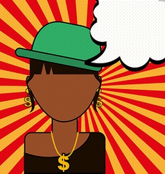 Pop art comic vector