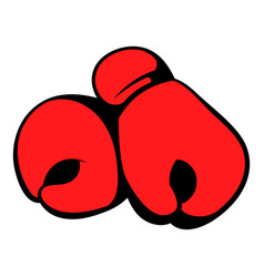 Red boxing gloves icon icon cartoon vector