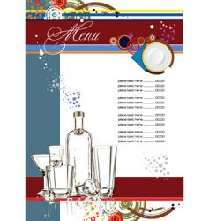 restaurante menu vector image