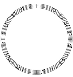 Round music border vector