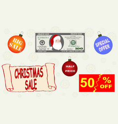 set of various design elements for your christmas vector image vector image