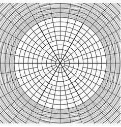 sheet of polar graph paper vector image vector image