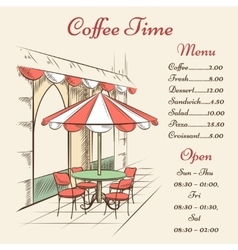 street cafe poster vector image vector image