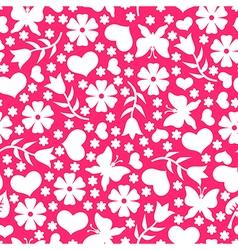 valentine day pattern pink vector image
