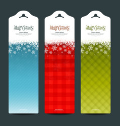 Merry Christmas background Vertical banner vector image