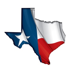 Texas Map Flag vector image