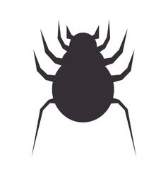 Bug icon design over white background vector