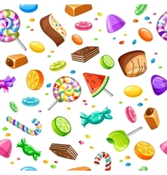 Sweet candy pattern vector