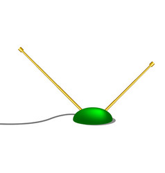 indoor tv antenna in retro design vector image
